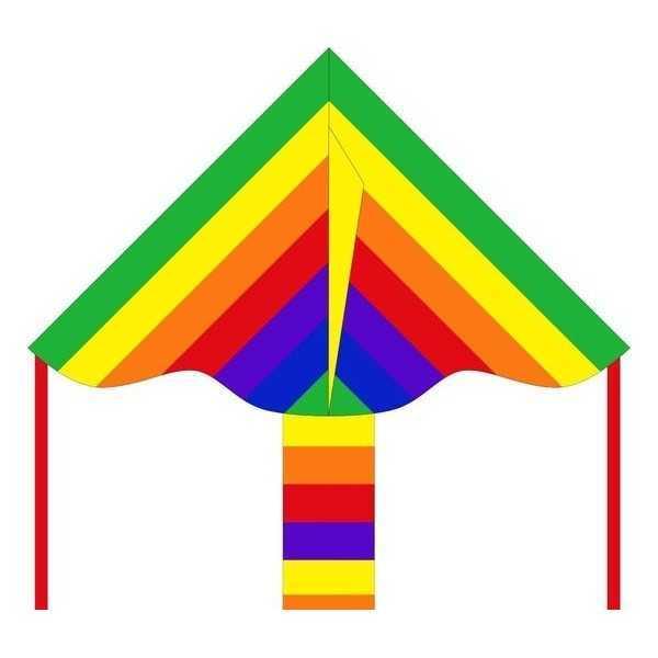 Vlieger HQ Ecoline: Simple Flyer Rainbow 85cm - 1