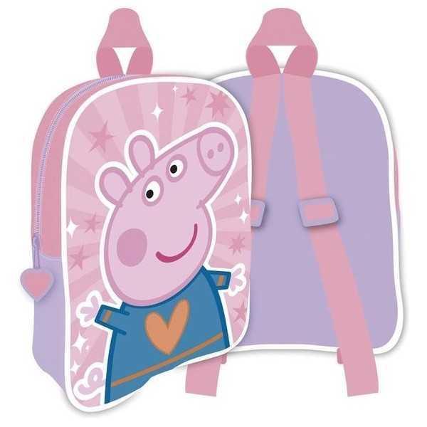 Rugzak Peppa Pig Meisjes 28 X 22 Cm Polyester Roze - 1