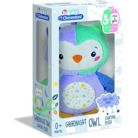 Knuffeluil Play With Me Goodnight 24 Cm Blauw/paars - 1