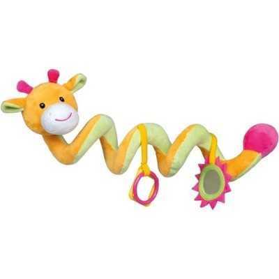 Pluche activiteitsspiraal 53cm giraf - Rammelaar - Vanaf 0 maanden - 1
