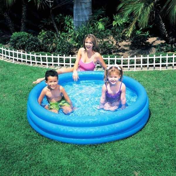 Intex Opblaasbaar Zwembad Crystal - 3 Rings - 147 cm - Opblaaszwembad - 1