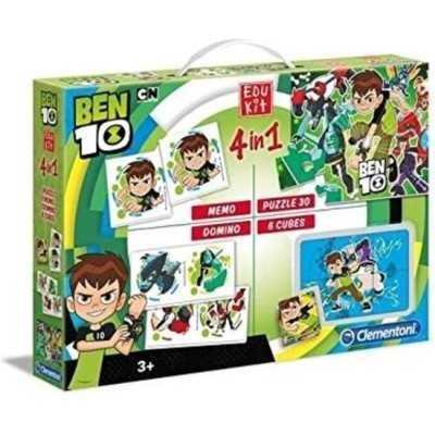 Clementoni Ben 10 edukit 4 in 1 - memory - puzzel - domino - kubus - 1