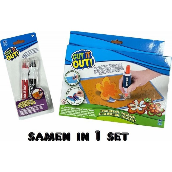 Cut it Out! Starter Set en Navulverpakking StiftenDuo-Pack - samen in 1 set - 1