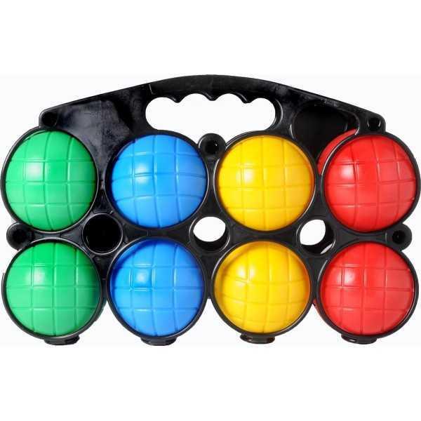 Jeu De Boules Set Plastic 8 Ballen Gekleurd - Longfield Games - 1