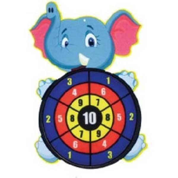 Dartbord klittenband - Olifant - incl. 3 ballen 28x44cm - 1