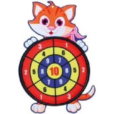 Dartbord klittenband - kat - incl. 3 ballen 28x44cm - 1