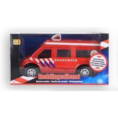 Reddingsdienstvoertuig Brandweer 26 Cm Rood - 1