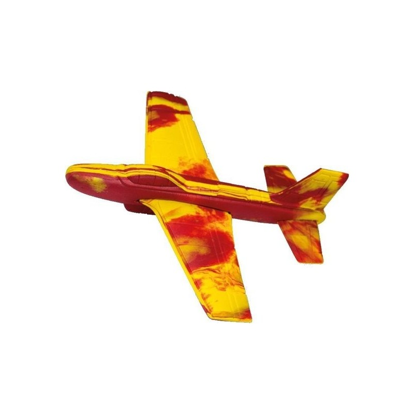 Werpvliegtuig Stunt Glider 18 X 18 Cm Geel/rood - 1